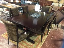 baker dining room chairs baker dining table w 2 leaves 6 chairs consignment furniture depot