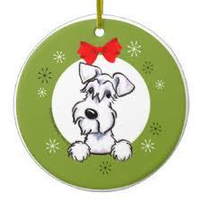 miniature schnauzer ornaments keepsake ornaments zazzle