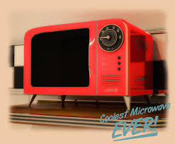 Retro Kitchen Designs by Refined Microwave Ovens For Retro Kitchen Designs