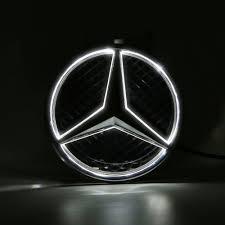 car mercedes logo illuminated led light front grille star emblem badge for 2011 2016