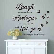 wallpaper laugh apologize let go letters waterproof vinyl wall