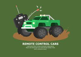 bright green muddy rc car vector download free vector art stock