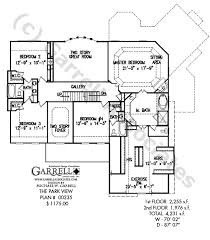 house plans with rear view park view house plan colonial house plans