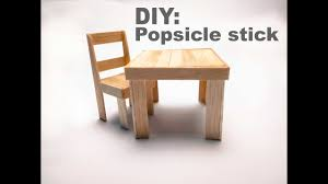 How To Make An Armchair Diy How To Make A Popsicle Stick Chair And Table Youtube