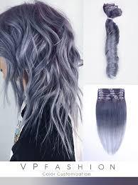 silver brown hair colorful hair extensions vpfashion com