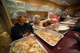 vineyard church serves nearly 150 traditional thanksgiving