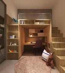 loft bed design wooden loft bed with shelves desk and bookshelf underneath desk