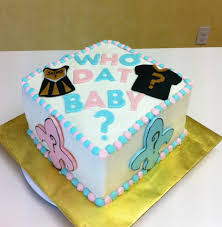 new orlean u0027s saints themed gender reveal baby shower cake it was