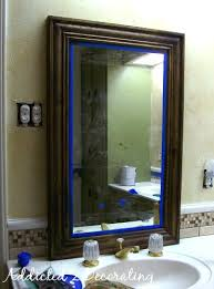 framed mirror from builders grade plate glass mirror