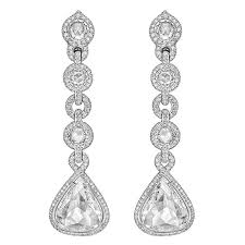 diamond drop earrings cut diamond gold drop earrings at 1stdibs