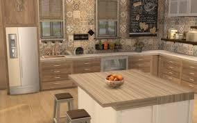 cuisine chaleureuse contemporaine sims 4 deco rustique cuisine kitchen chic moderne