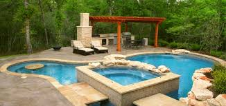 backyard designs with pool and outdoor kitchen pool and outdoor