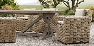 teak trestle dining table belgian trestle weathered teak restoration hardware project