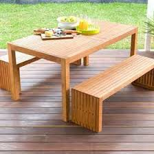 Wooden Tables And Benches 3 Piece Wooden Table And Bench Set 199 Http Www Kmart Com Au