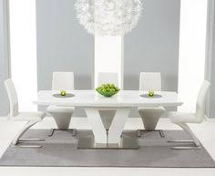White Gloss Dining Table And Chairs Curva White Gloss Extending Dining Set Dining Chairs Dining And