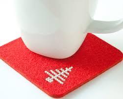 christmas diy coaster kit cross stitch felt coaster set with