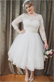 plus size tea length wedding dresses with sleeves wedding ideas