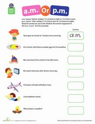 telling time a m or p m worksheet education com