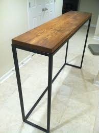 Reclaimed Wood Bar Table Impressive Metal And Wood Bar Table Industrial Style Bar Height