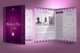 banquet program templates 5 remarkable mothers day church program templates inspiks market