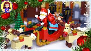 santa sleigh rudolph reindeer lego build silly play