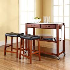 crosley cherry kitchen cart with stainless steel top kf300524ch