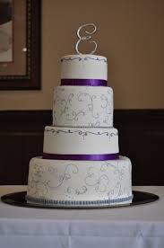peach of cake scroll and swirl wedding cake