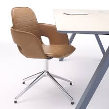 contemporary office chair on casters upholstered with