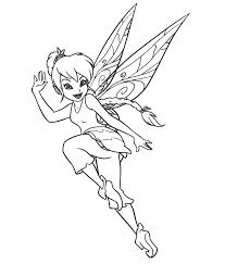 tinkerbell jump pixie coloring netart