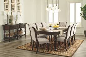 dining room table rustic porter dining room table ashley furniture homestore