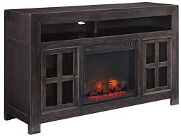 gavelston entertainment wall with fireplace option from ashley