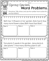 may first grade worksheets for spring word problems math and spring