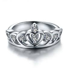 925 sterling silver engagement rings charming princess crown shaped 925 sterling silver engagement ring