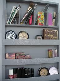 grey silver makeup organizer storage nail polish rack