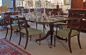 Dining Room Pedestal Tables Fine George Iii Cuban Mahogany 2 Pedestal Dining Table C1800 M