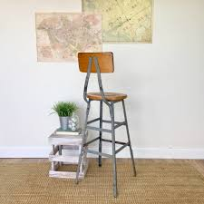 industrial metal bar stools with backs vintage industrial bar stool rustic industrial furniture industrial