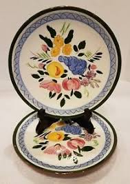stangl pottery fruit and flowers 1958 stangl pottery fruit and flowers 8 plates set of two ebay