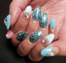 blue nail art u2014 60 photos of the best design ideas
