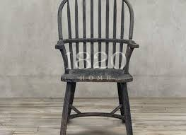 Antique Wooden Armchairs American French Rustic Wood Armchair Retro Black Antique
