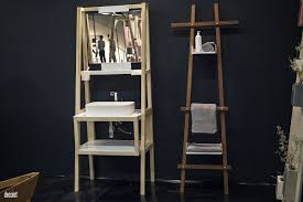 20 towel display ideas for contemporary bathrooms view in gallery innovative and space savvy ladder shelf and sink for the small bathroom folded and stacked