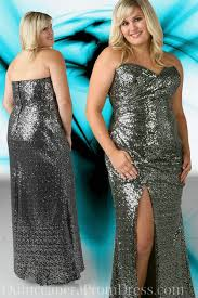 sequin strapless long formal dress plus size special occasion