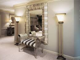 Home Foyer Decorating Ideas Foyer Decorating Ideas With Mirror And Bench And Floor Lamps