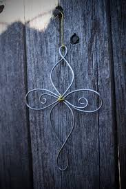 well crafted tree or fleur de lis wire ornaments are