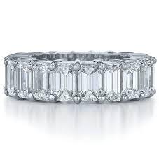 emerald cut wedding band wedding band emerald cut eternity wedding ring g h vs