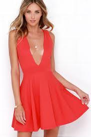 red dress v neck ivo hoogveld
