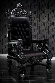 Gothic Living Room Black Leather Sofa And Gothic Style Home Inspiring
