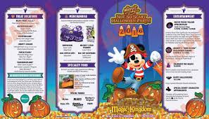 Printable Map Of Disney World by A Look At Mickey U0027s Not So Scary Halloween Party 2016 Guide Map