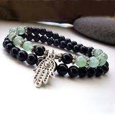 bracelet man onyx images Sn0141 onyx and stone bracelet men hamsa bracelet good luck jpg
