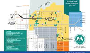 Phoenix Airport Map by Mesa Transportation Airports Light Rail Car Rentals Shuttles
