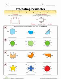 presenting perimeter geometry worksheets worksheets and second